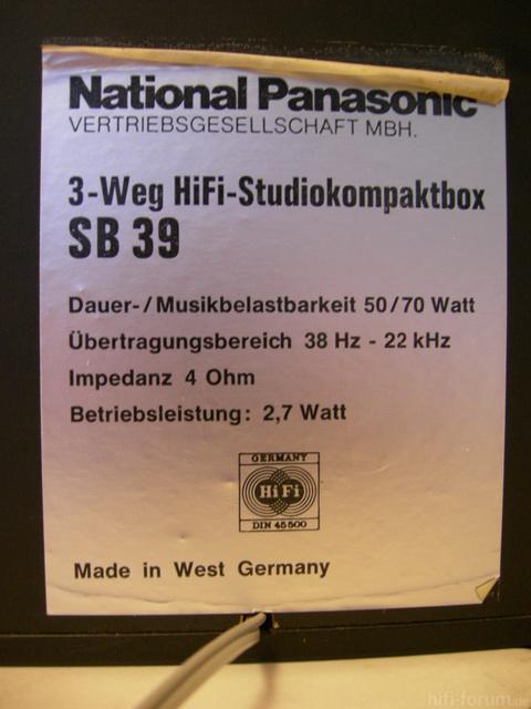 National Panasonic SB 39