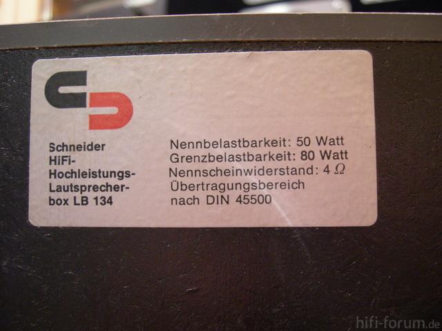 Schneider LB 134