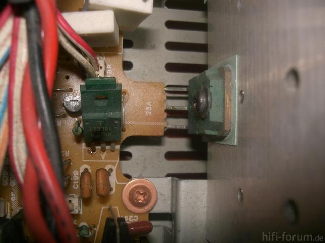 Durchgebrannter Transistor Yamaha A-520