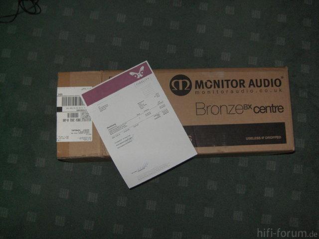Verpackung+Rechnung Monitor Audio BX Center