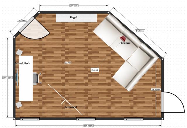 Wohnzimmer Grundriss