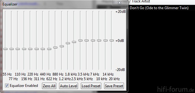 EQ-Setting Foobar: Klangschalen