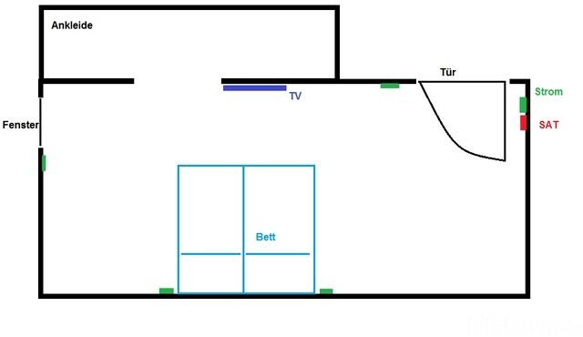 Schlafzimmer Skizze 1