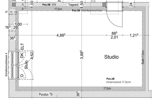 Plan - Studio