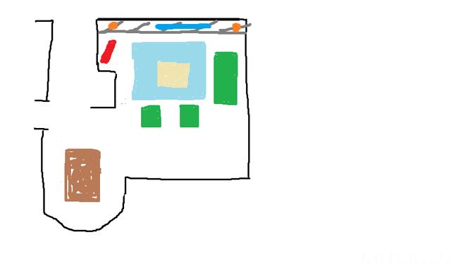 Skizze - Wohnzimmer