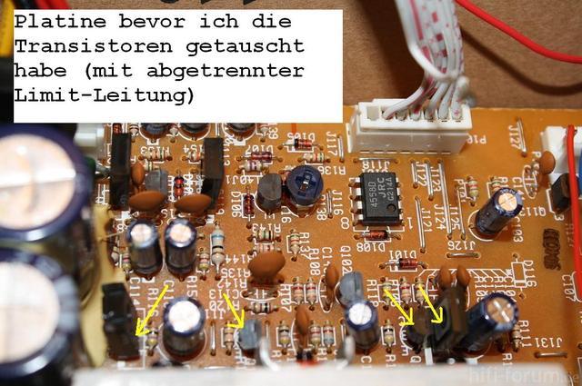 Platine Vor Tauschen Der Transistoren