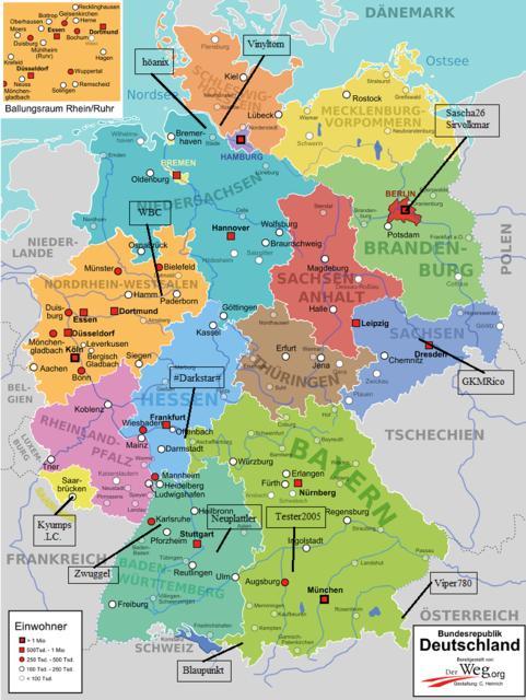 Deutschlandkarte Vinyl Nr.4