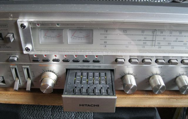 Hitachi SDT 7785 Music Centre DIN to Phono - UK Vintage