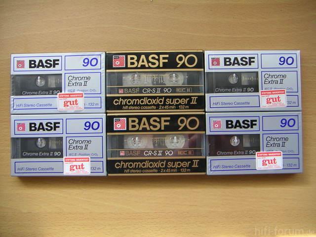 BASF Chromdioxid Super II CR-S II 90 Und BASF Chrome Extra II 90