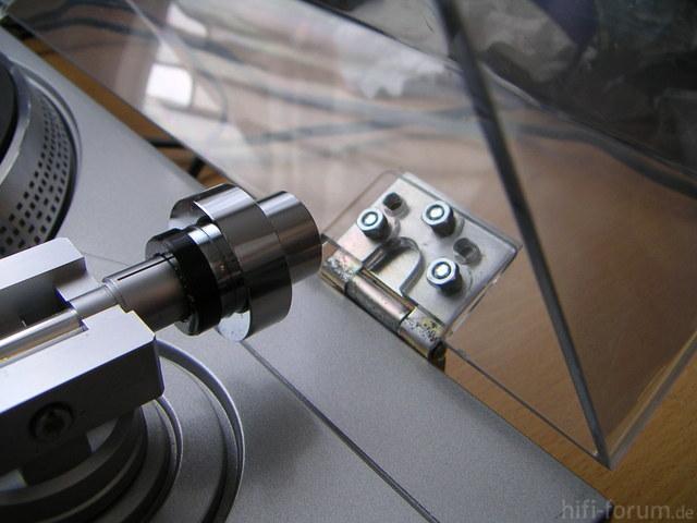 Plattenspieler Sony PS-T22 Mit Selbstgebauten Scharnieren