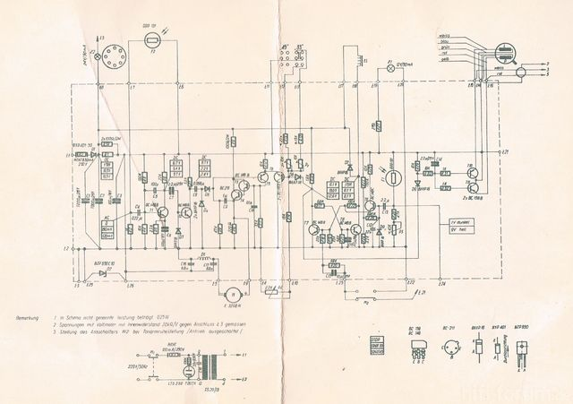 Schaltbild Unitra Hgs Altus P-100