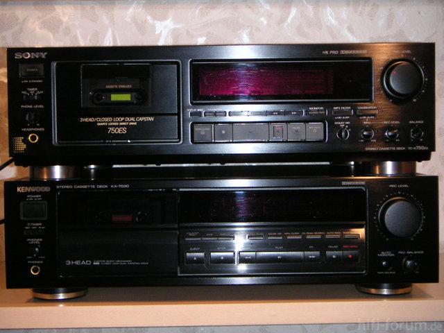 Sony TC-K 750 ES Und Kenwood KX-7030