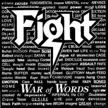 Fight War Of Words Front