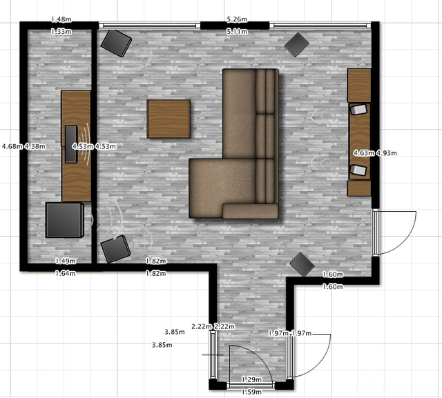 Wohnzimmer Plan