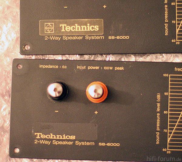 Technics Unter Aufkleber Sb 6000