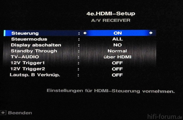 HDMI-Setup