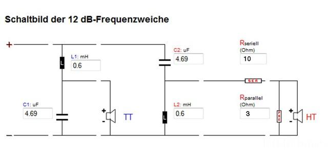 Schaltplan Von Frequenzweiche