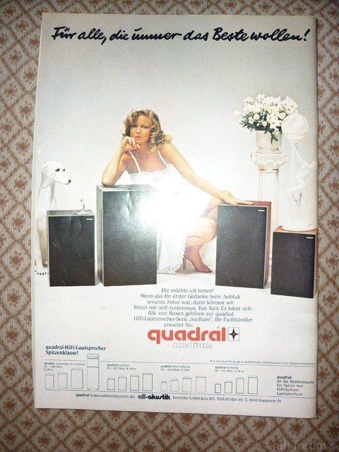 Quadral Werbung