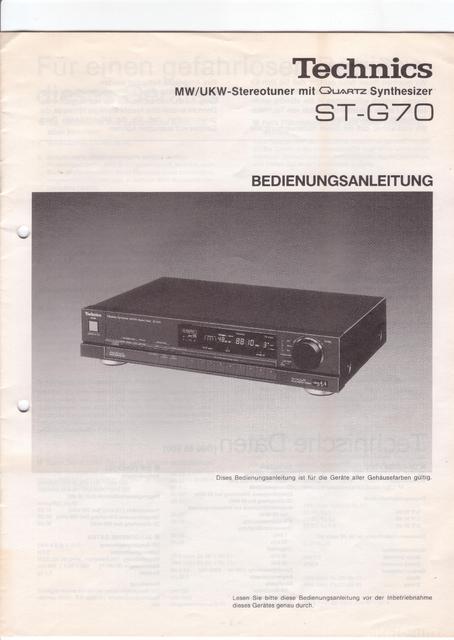 Technics ST-G70 Bedienungsanleitung