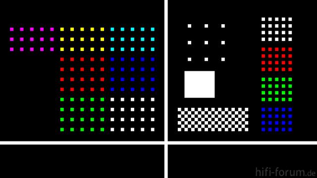 Pixeltestbild Vergrößert