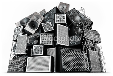 Stock Photo 7144360 Speaker Stack