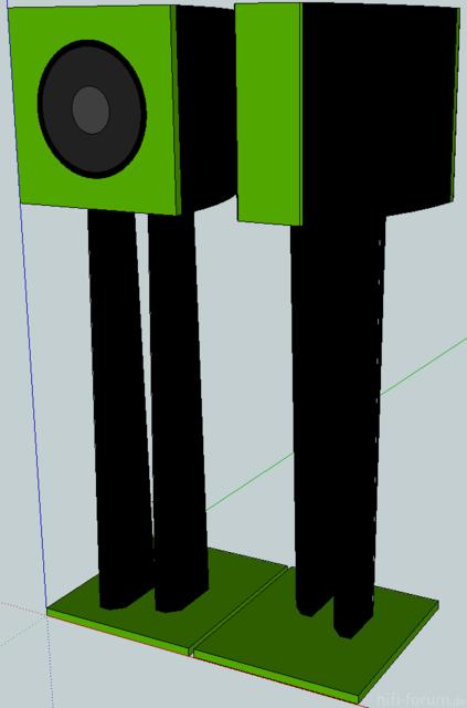 SketchUp-Entwurf-Frontlautsprecher