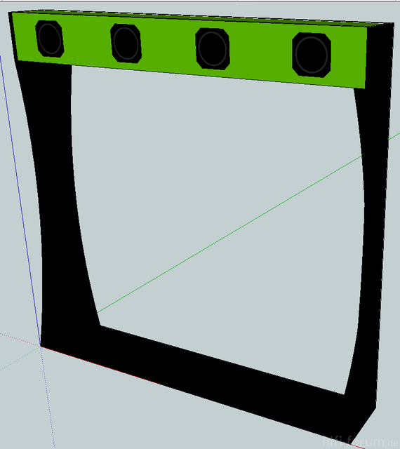 SketchUp-Entwurf-Rearlautsprecher