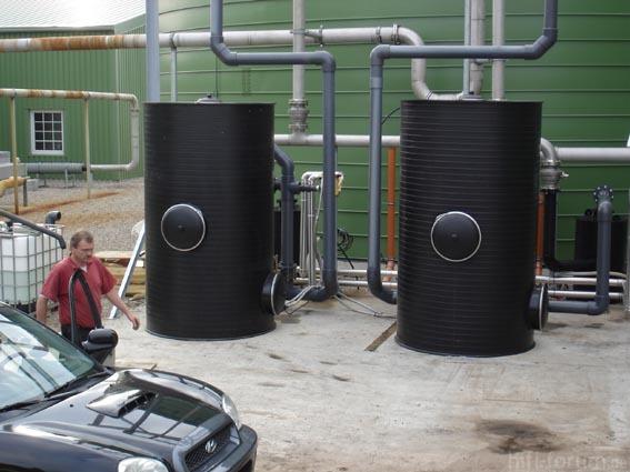 Breitbänderbiogasnetzfilteranlage