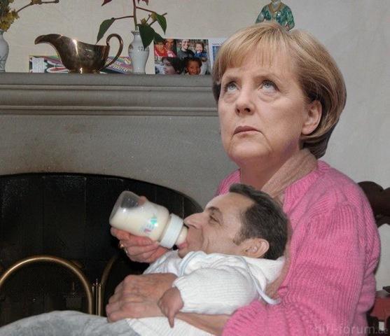 Merkel Sarkozy Baby1