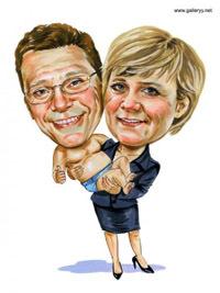 Merkel Traegt Westerwelle 2