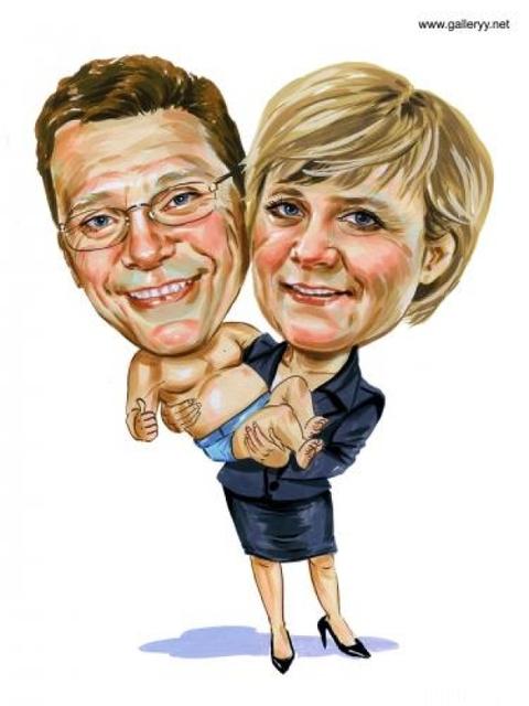 Merkel Traegt Westerwelle