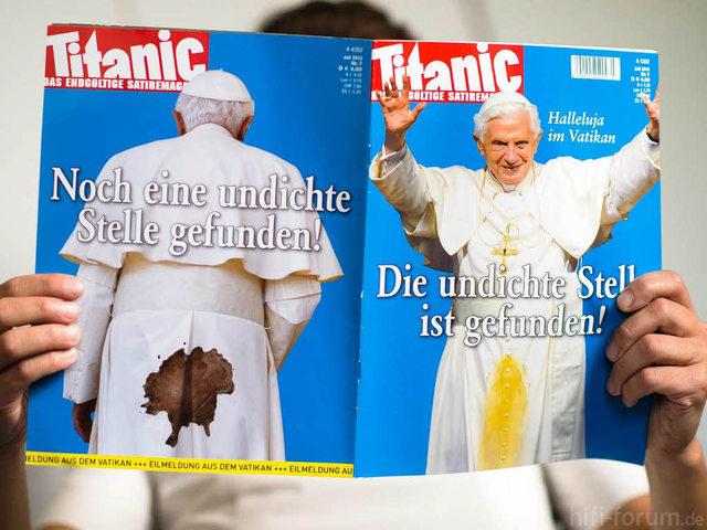 Papst UndichteStelle Titanic1