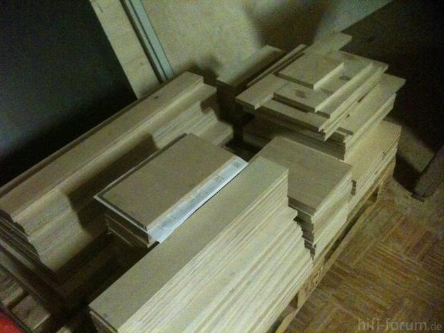 Palette Voll Holz Nach Dem Zuschnitt