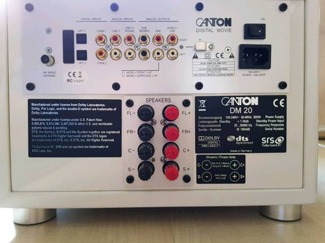 CANTON DM 20 Soundsystem mit Subwoofer