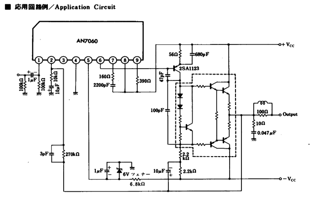 AN7060 typical application circuit