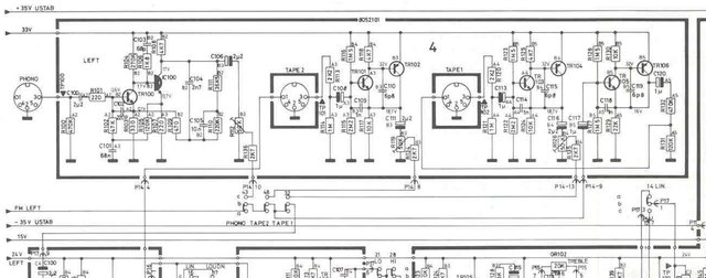 B&O Beomaster 4400 Schematic Detail Phono Tape Input