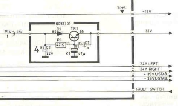 B&O Beomaster 4400 Schematic Detail Voltage Regulator 33V