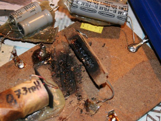 Boston Acoustics A200 Crossover Network Burned Resistors
