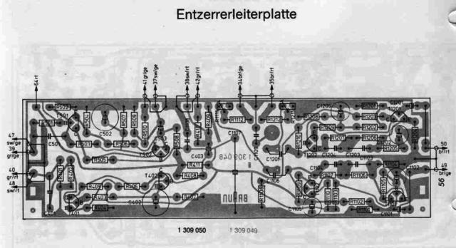Braun Audio 310 PCB layout phono equalizer Entzerrer Leiterplatte