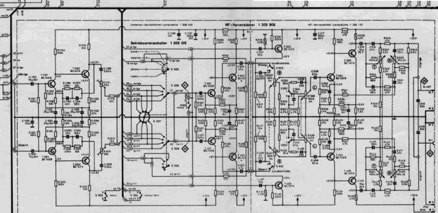 Braun Audio 310 schematic detail preamplifier section