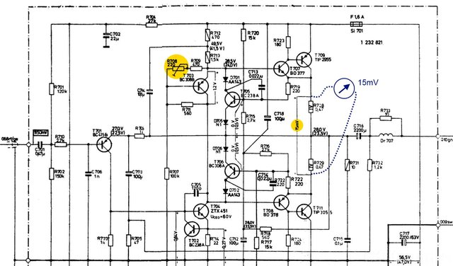 Braun Regie 450s Power Amp Schematic