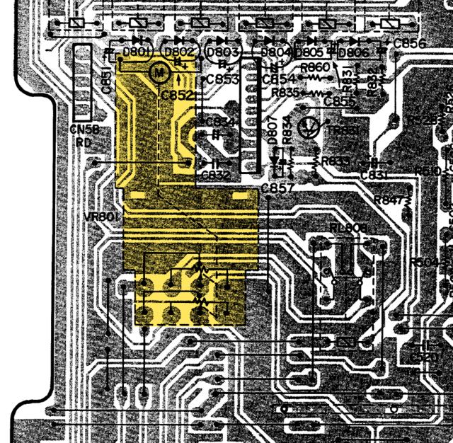 Denon PMA 980R Main PCB Detail Volume Motor Poti Lautstärkeregler