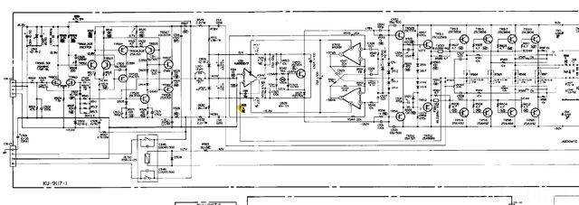 Denon POA 6600 Schematic Detail Power Amp