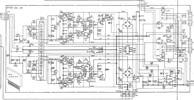 Grundig Fine Arts A-9000 Schematic Detail Power Amp