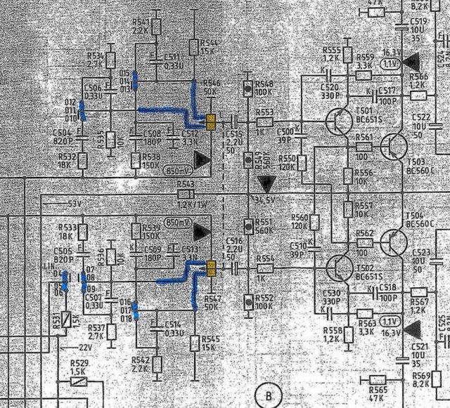 Grundig SXV6000 XV7500 Schalltplan Lautstärke Poti Mit Zwischenanzapfungen