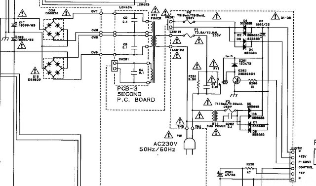 Harman Kardon HK660 Schematic Detail Power Supply With Fuses