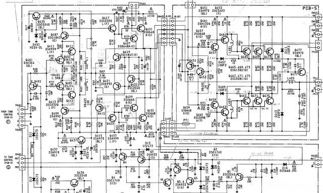 Harman Kardon HK6900 Schematic Detail Power Amp Section