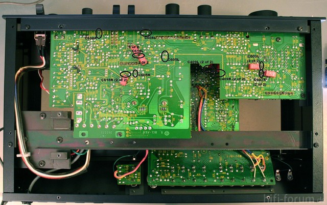 HCA 8300 ReCap PCB Bottom View