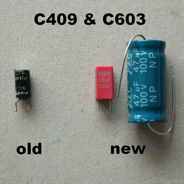 HCA 8300 Replacement Capacitor C409 C603