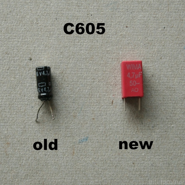 HCA 8300 Replacement Capacitor C605